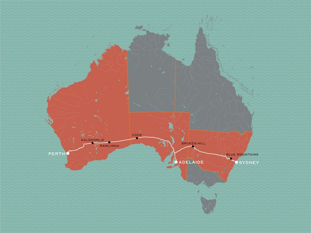 Map Of Australia Gold Rush.Perth To Sydney Journey Beyond Rail Expeditions
